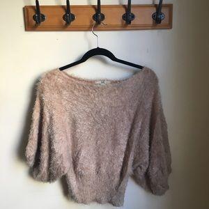 Ya Los Angeles Dolman Sleeve Eyelash Sweater
